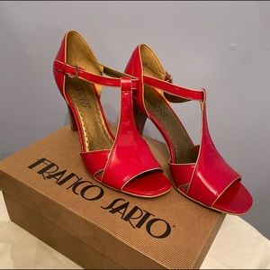 Women's Franco Sarto Red Leather Heels